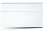Вагонка ПВХ Белая трехсекционная