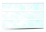 Вагонка ПВХ Голубая трехсекционная