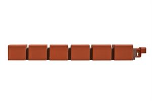Наружный угол кирпич клинкерный МАЛЫЙ (красный) 0,46х0,048м