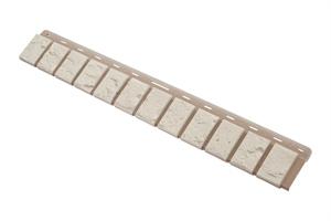 Облицовочная планка кирпич (белый), 0,92 х 0,125м