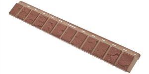 Облицовочная планка кирпич (красный), 0,92 х 0,125м