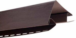 Планка наружный угол коричневая Т-12 - 3,00м ВН