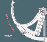 Поворотный элемент водосточной системы стандарт